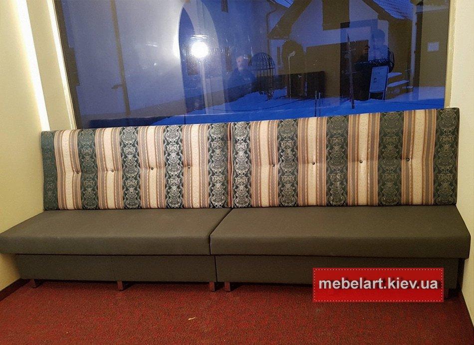 диван подокно прямой формы