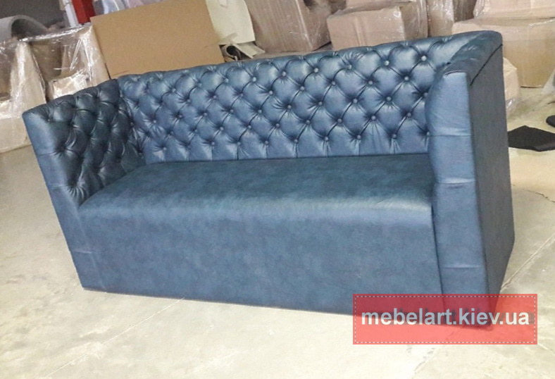 """прямая мягкая мебель голубого цвета """"честер"""""""