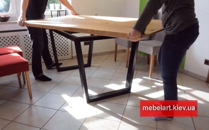 столы из массива на заказ
