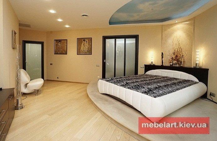 дизайнерские кровати белого цвета