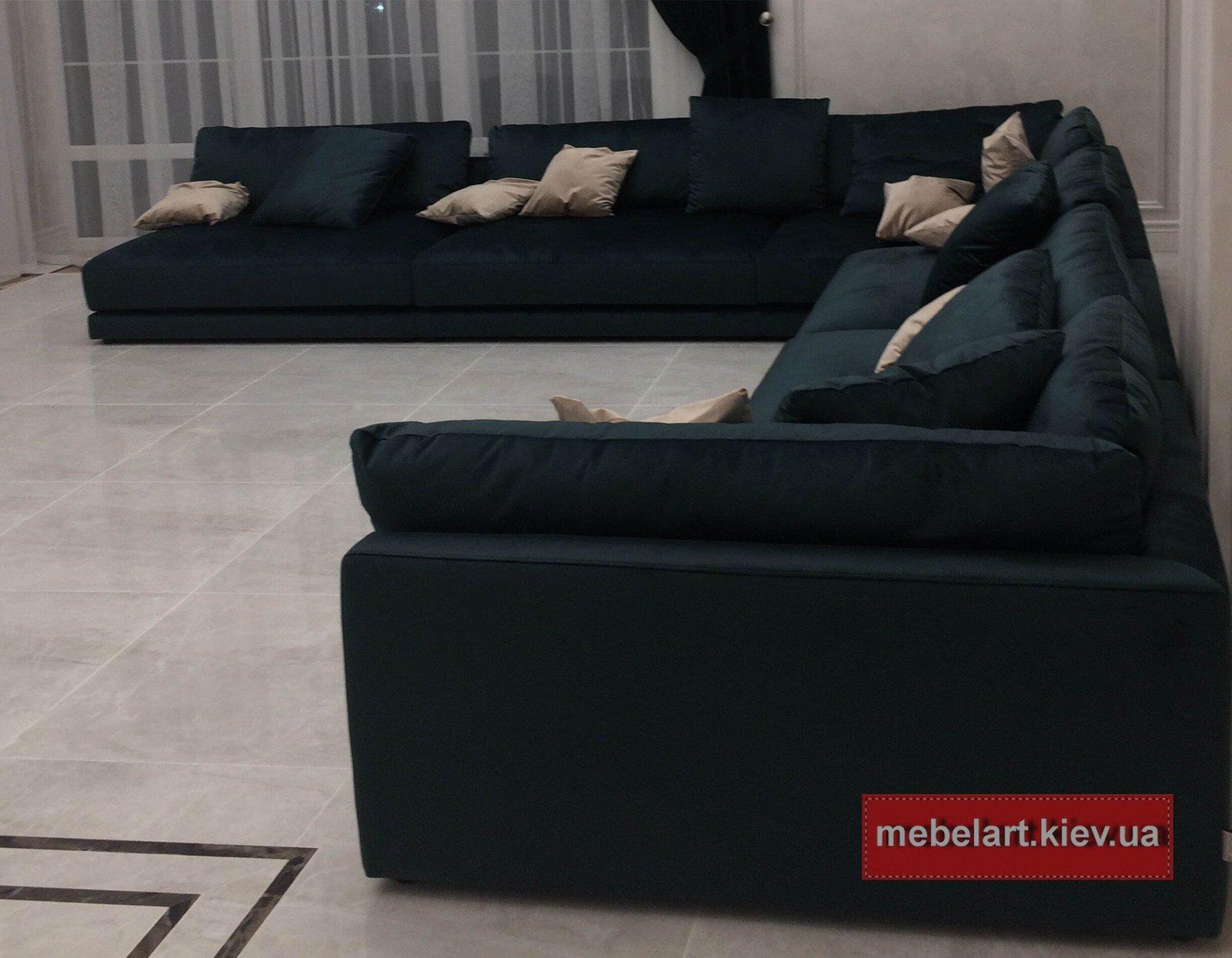 роскошные диваны на заказ п образной формы в Одессе