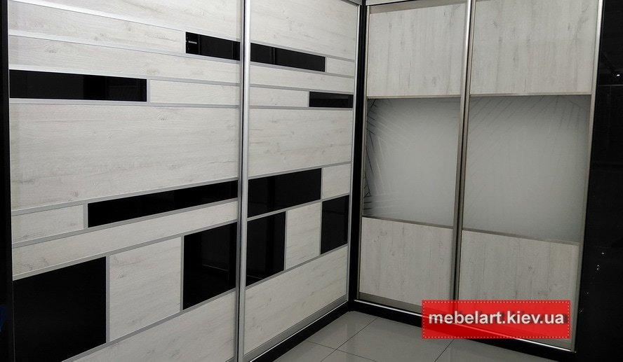дизайнерские Встроенные  Встроенные  шкафы-купе под заказ Буча