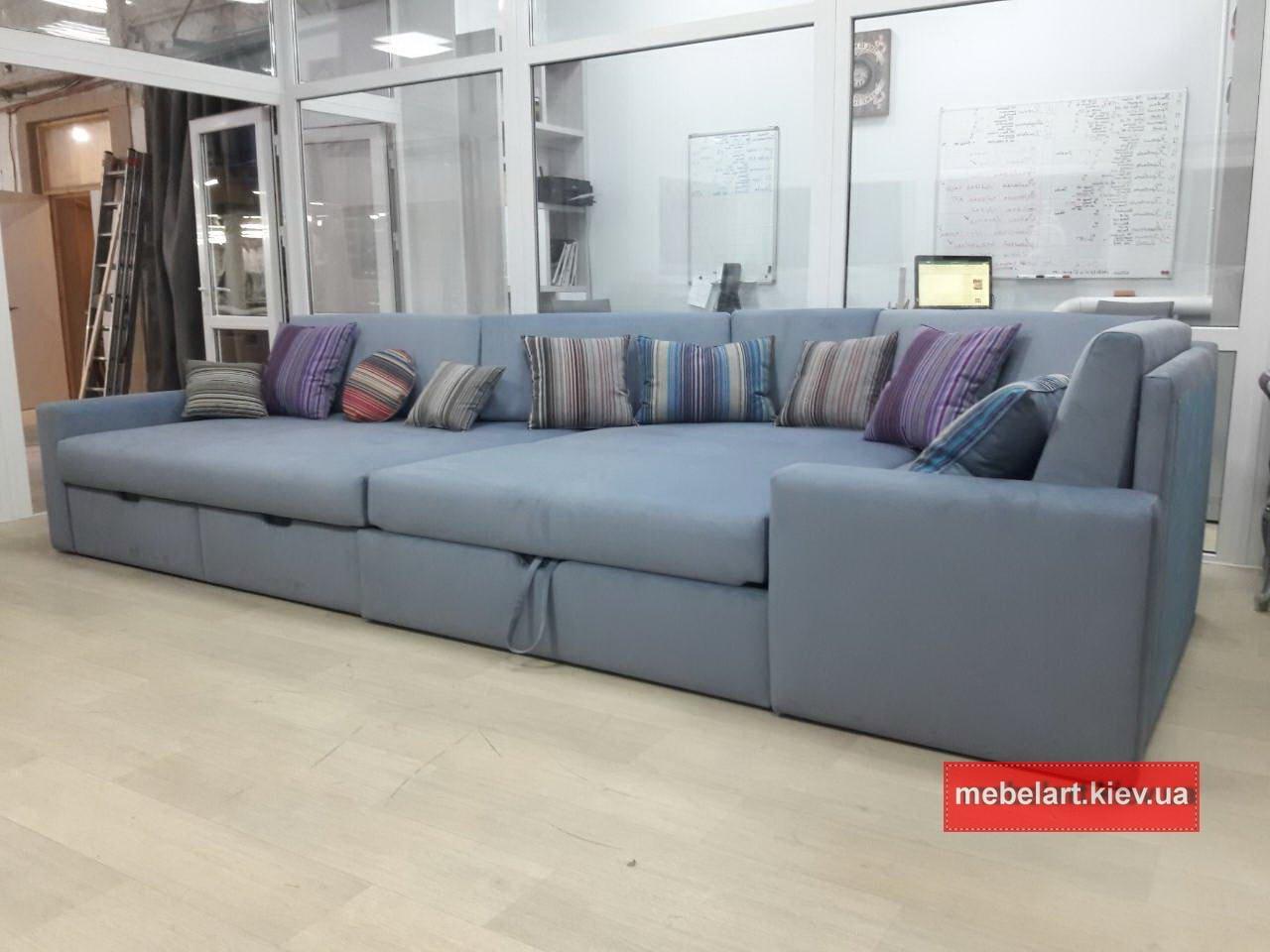 фотография двухугловога дивана под заказ