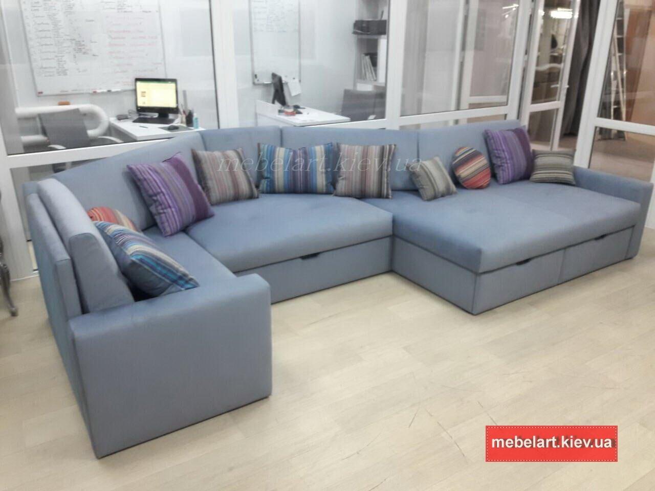 дизайн-проект двухуглового дивана на заказ