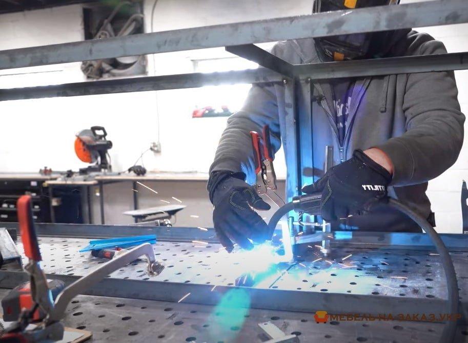 как делают кухню лофт из фанеры и металла