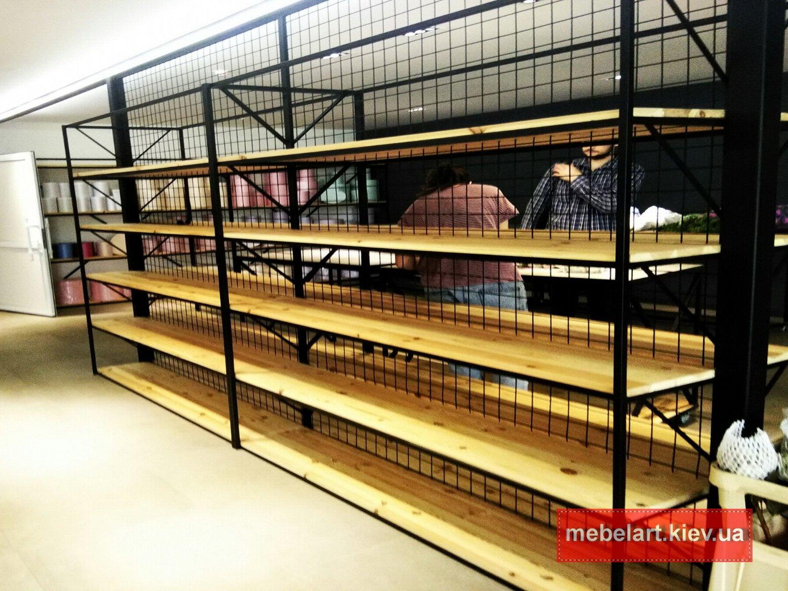 продажа деревянной мебели в стиле лофт