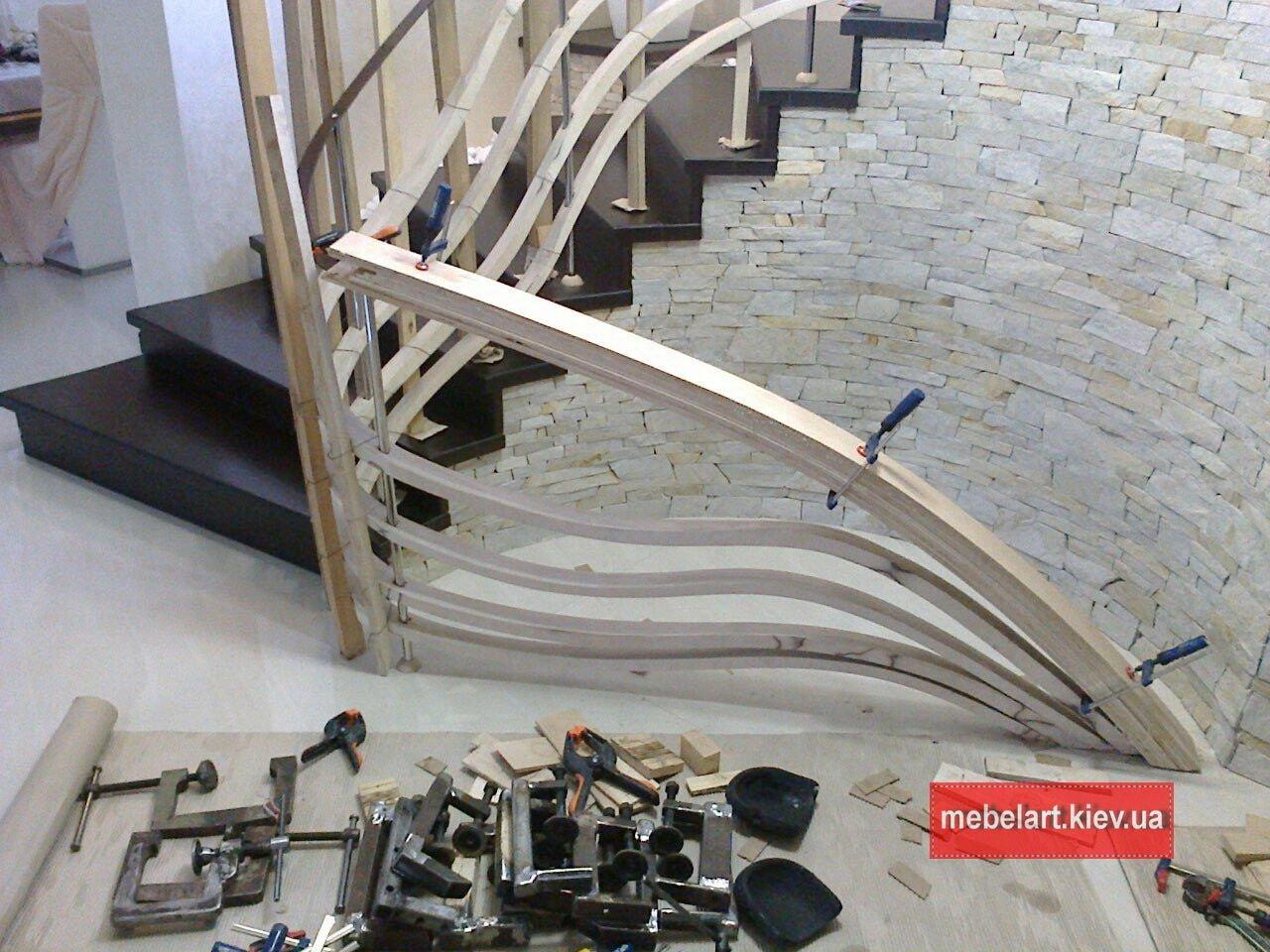 радиусная сходи на другий поверх