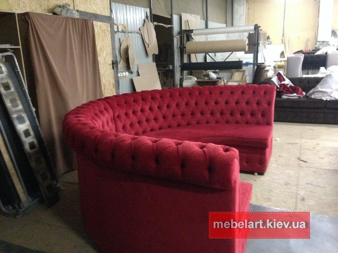 изготовить диван в кафе Одесса