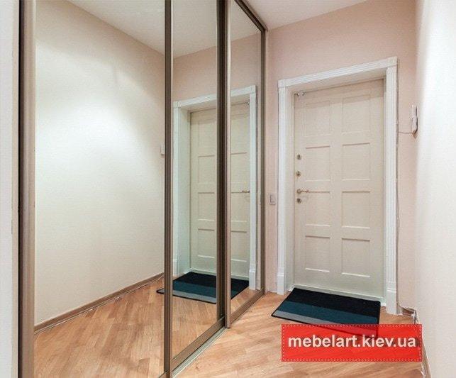 нестандартные Встроенные  шкафы для коридора под заказ Ирпень