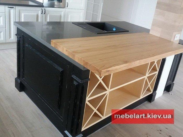 тумба в кухню из дерева