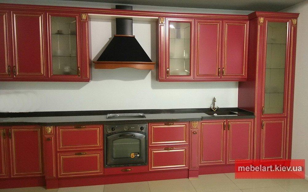 мебель для кухни красная