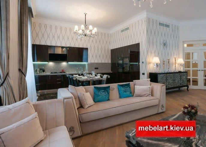 заказать диван прямой формы белого цвета
