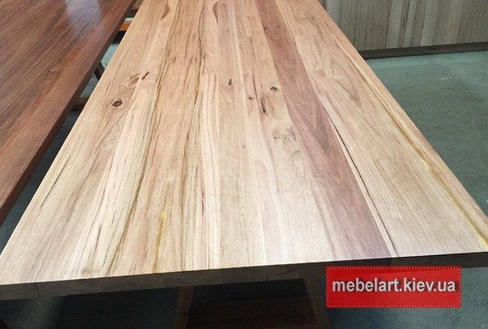 широкий деревянный стол под заказ