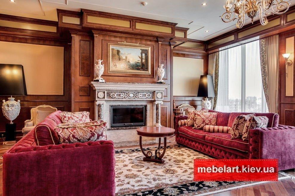 прямые классические диваны под заказ в Киеве
