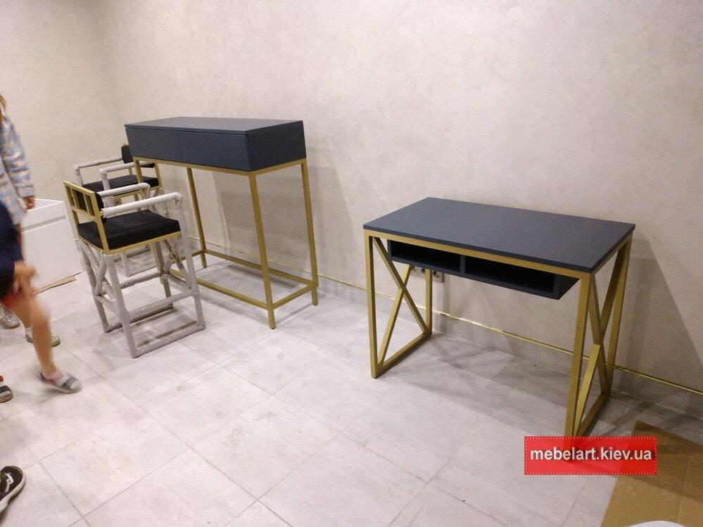 дизайн проект стола лофт