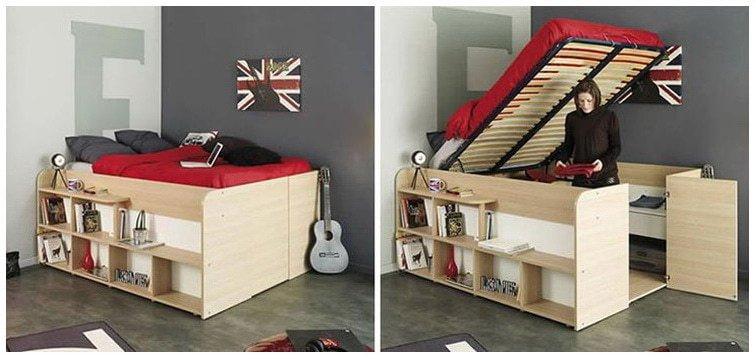 необычный кровать шкаф стол