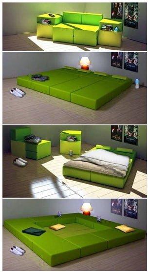 зеленый умный диван