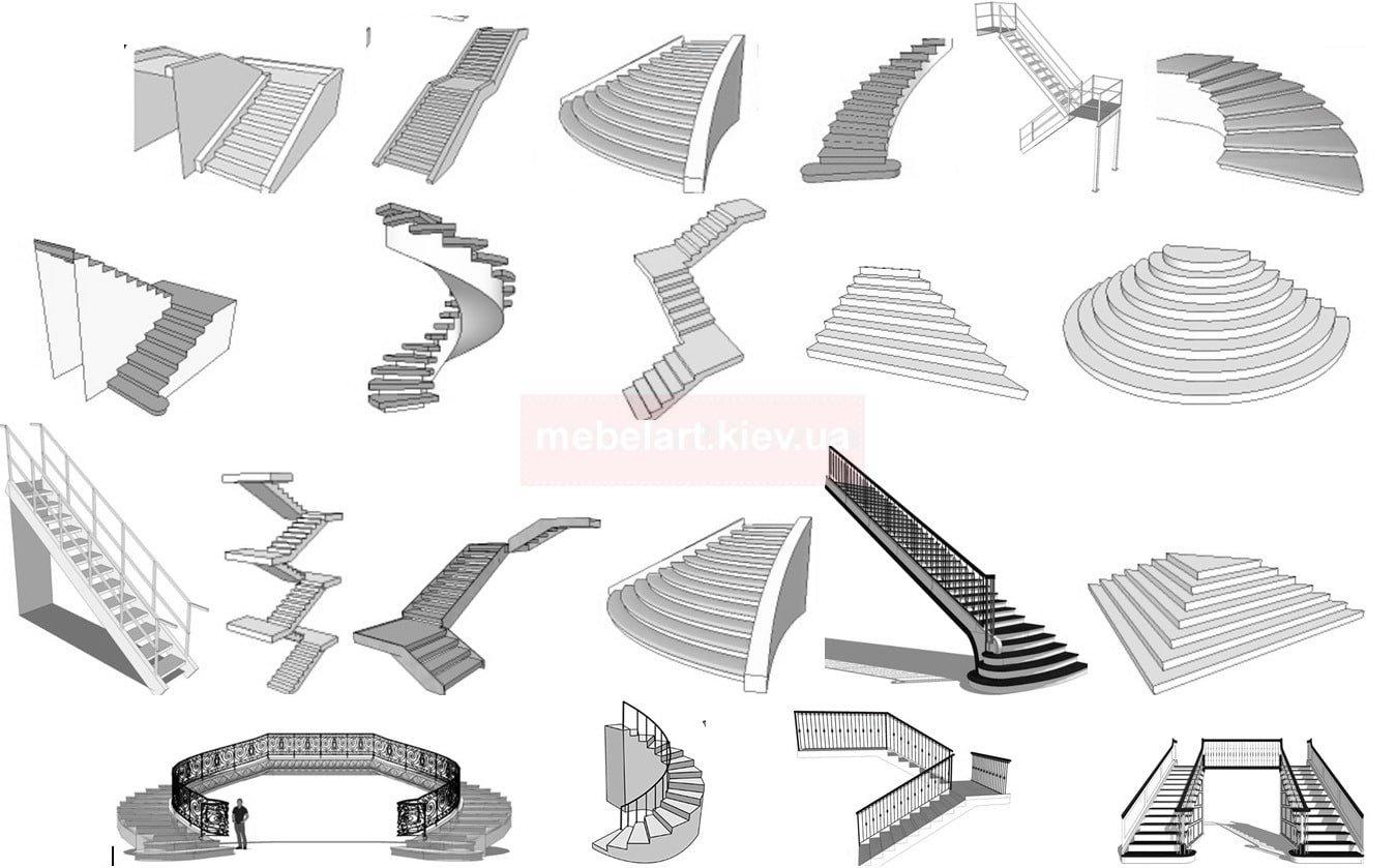 Формы лестниц для дома на заказ дизайн