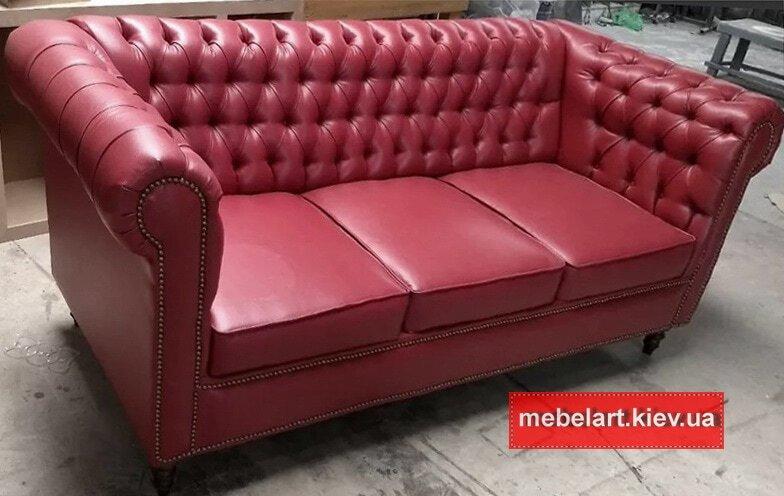 проекты прямых диванов  из кожи